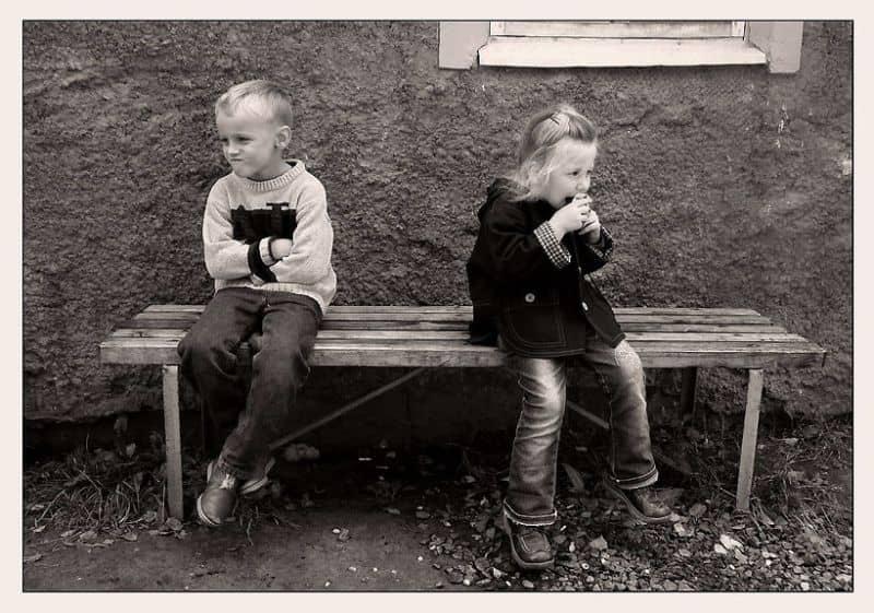 Дети сидят