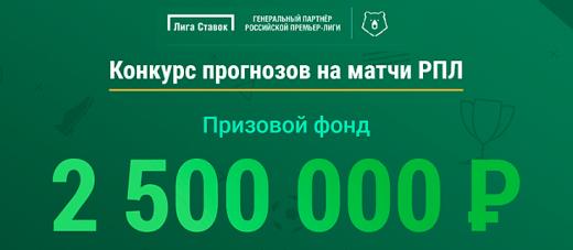 Акции и бонусы от Лига Ставок.ру