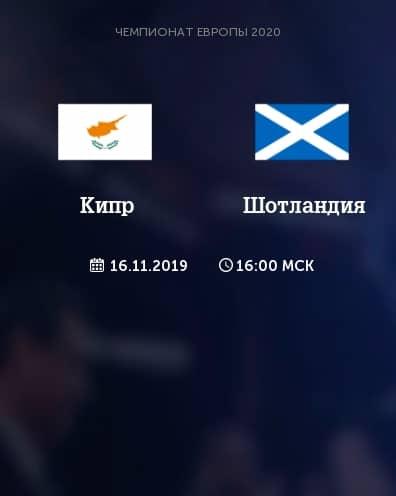 Прогноз на матч Кипр – Шотландия - 16.11.2019, 17:00